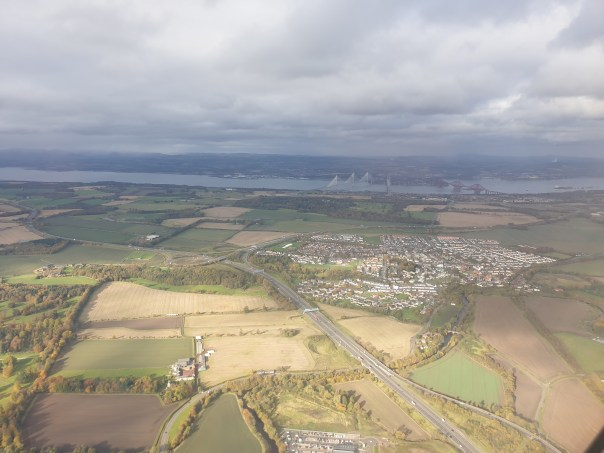 Aerial photo of Edinburgh from the south.