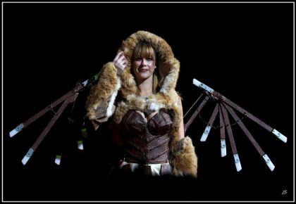Antinéa la robe en chocolat habillée pour l'hiver