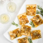 caramelized onion and blue cheese tart