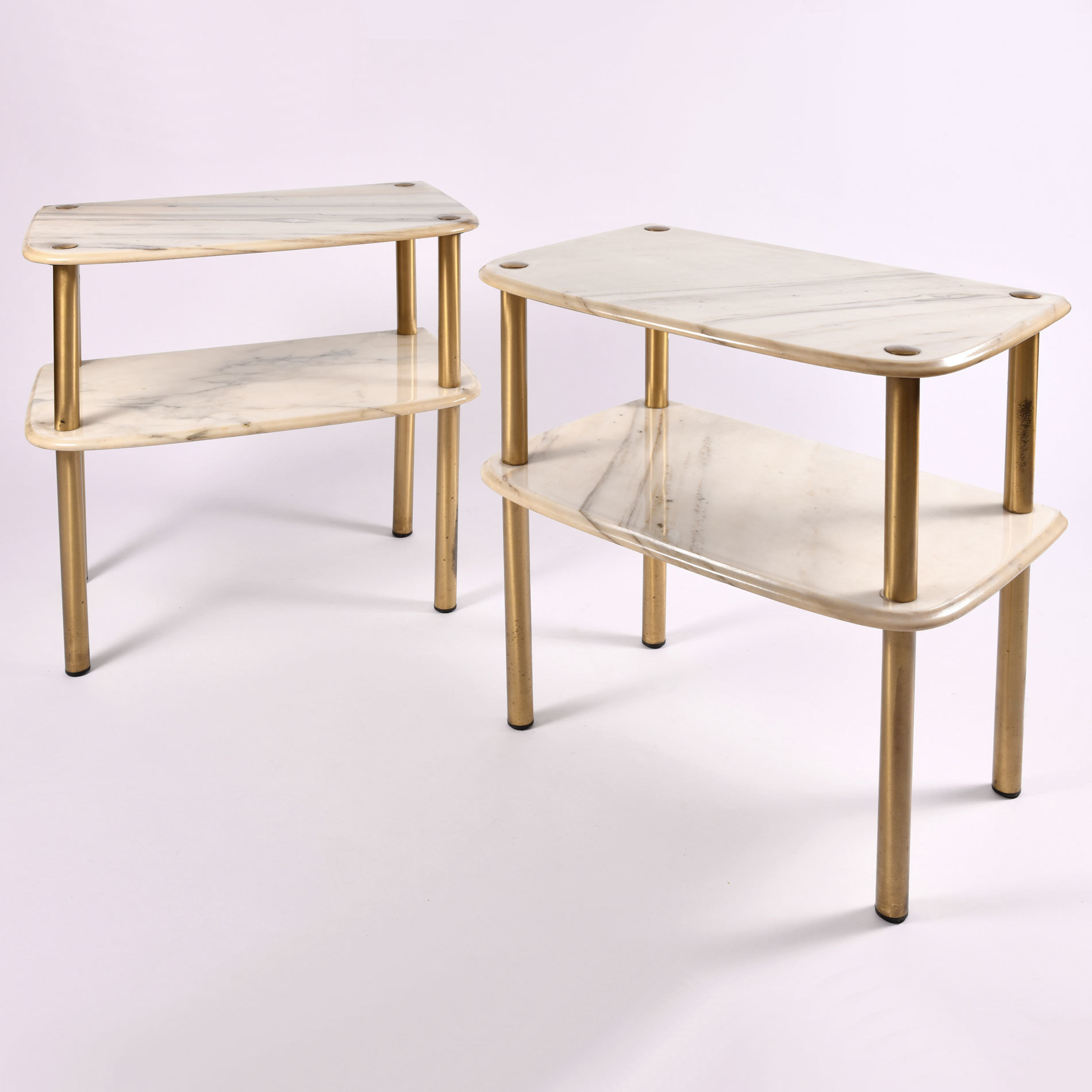 pair of 1950s italian marble topped