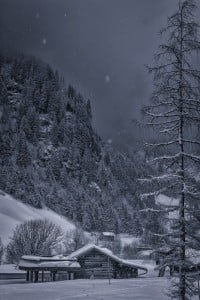 Winter wonderland in Alps mountains