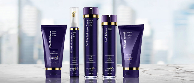 Defenage skin care products