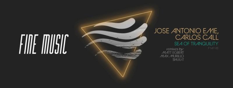 La nueva referencia titulada Sea Of Tranquility es un refrescante lanzamiento que nace en casa. Jose Antonio eMe (Fundador Fine Music) y Carlos Call (A&R Fine Music) juntan destrezas artísticas para presentarnos 2 tracks originales, incluyendo remixes de Matt Egbert y los locales Max Murillo con Shuu-t.