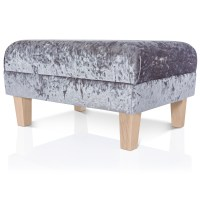 NEW FOOTSTOOL OTTOMAN - CRUSHED VELVET - FOOT REST SMALL ...