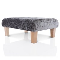 NEW FOOTSTOOL OTTOMAN - CRUSHED VELVET FOOT REST SMALL ...