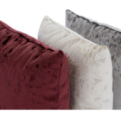 Grey Crushed Velvet Chair Covers Red And Black Office Cushions 17x17 Reversible Cushion