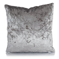 Grey Crushed Velvet Chair Covers Best High Easy To Clean Cushions 17x17 Reversible Cushion