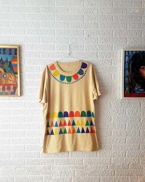 Camisetas de algodon multicolor portada _ Hand printed organic cotton t-shirts