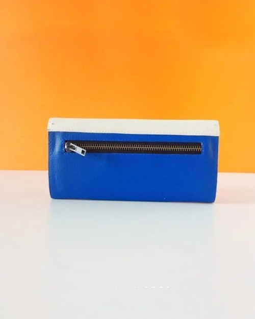 Pitti Vintage carteras de mujer de piel vegana blue - leather wallets for women