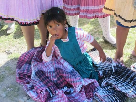 Niña peregrina hacia la Basílica de Guadalupe