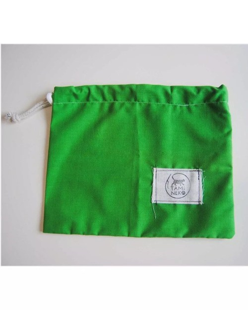 TamiNeko - Bolsas de tela para la compra - - Handmade fabric shopping bags light green