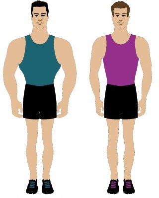 Inverted triangle male body types