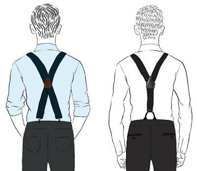 difference between x and y suspenders