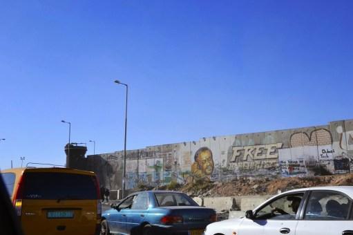 The wall around Ramallah