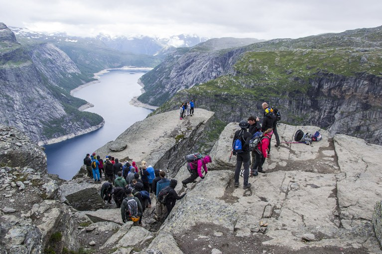 Waiting in line at Trolltunga