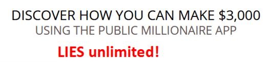 PUBLIC MILLIONAIRE APP