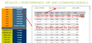 the Best Forex Trading Signals Provider fake results