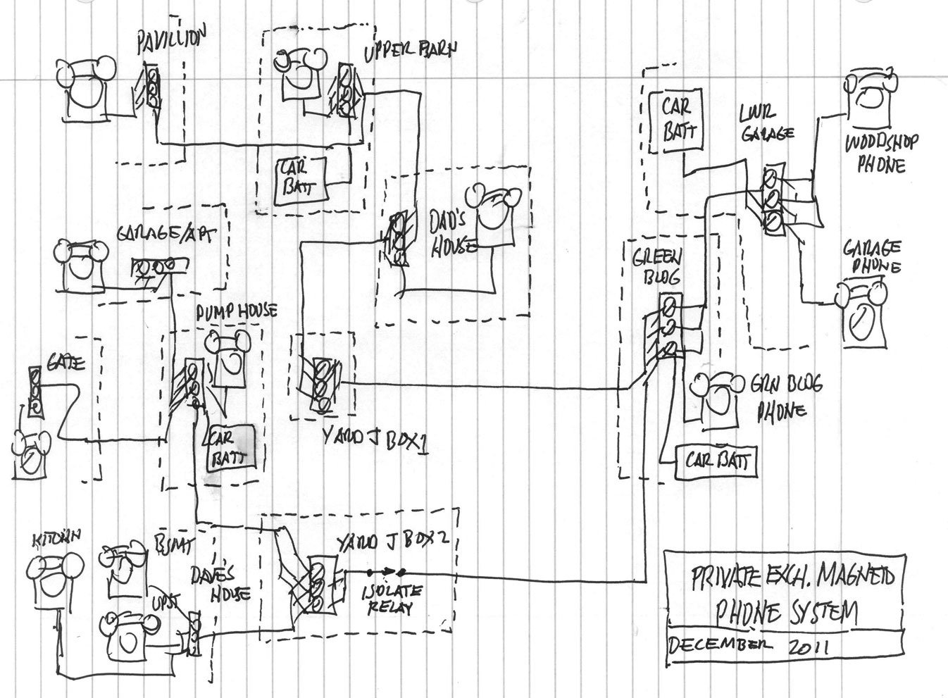 Phone Intercom Wiring Diagram