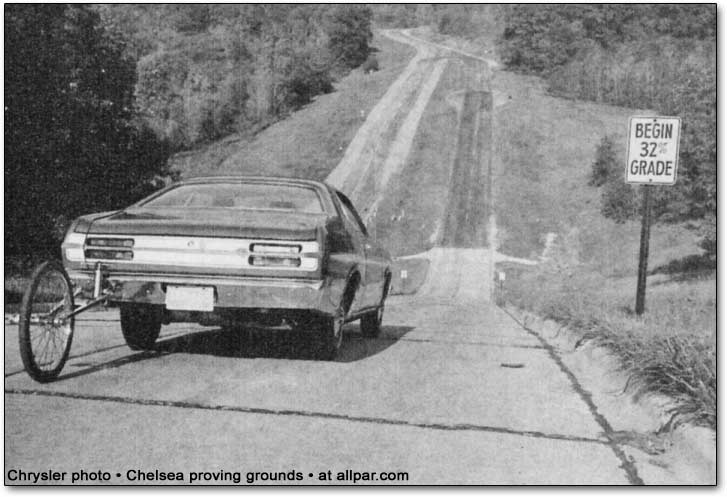 Plymouth Duster on a steep grade