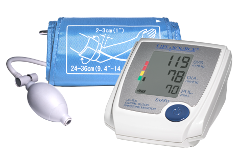 Photograph of Advanced Manual Inflate Blood Pressure Monitor