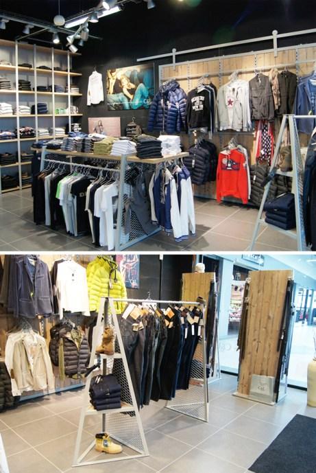 Agencement de boutique textile C&L Jeans - Conception, fabrication installation VALIN