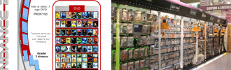 Mobilier et présentoirs VALIN pour le Multimédia, CD, DVD, Jeux Vidéo et Livres