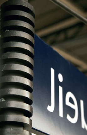 Support de signalétique pour la SNCF par Ouest-Industrie
