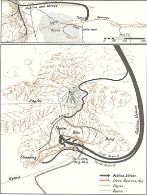 Mapa da Batalha dos Cinco Exércitos