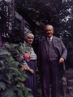 J. R. R. Tolkien e Edith Bratt, já em idade avançada