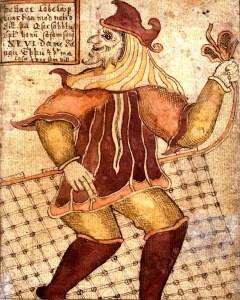 O deus Loki em uma representação do séc. XVIII
