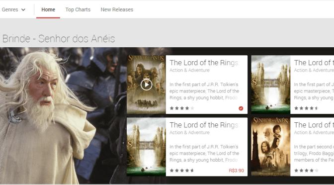 O Senhor dos Anéis: A Sociedade do Anel grátis no Google Movies
