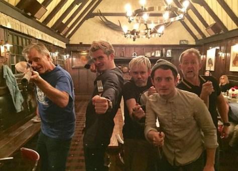 Viggo Mortensen, Orlando Bloom, Dominic Monaghan, Elijah Wood e Billy Boyd (Foto: Reprodução)