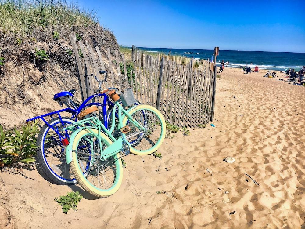 Bikes at Montauk Beach