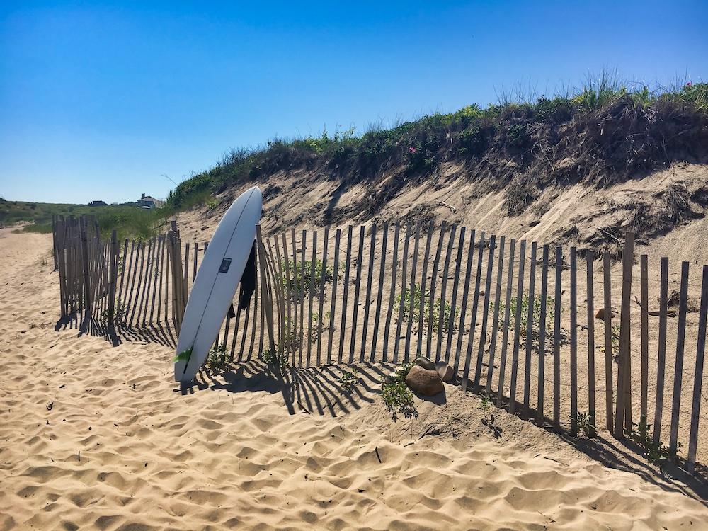 Surf Board at Montauk Beach