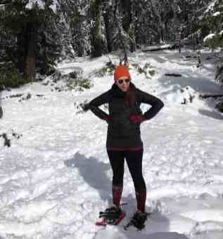 Rainier Winter Hike - Valerie in Snowshoes