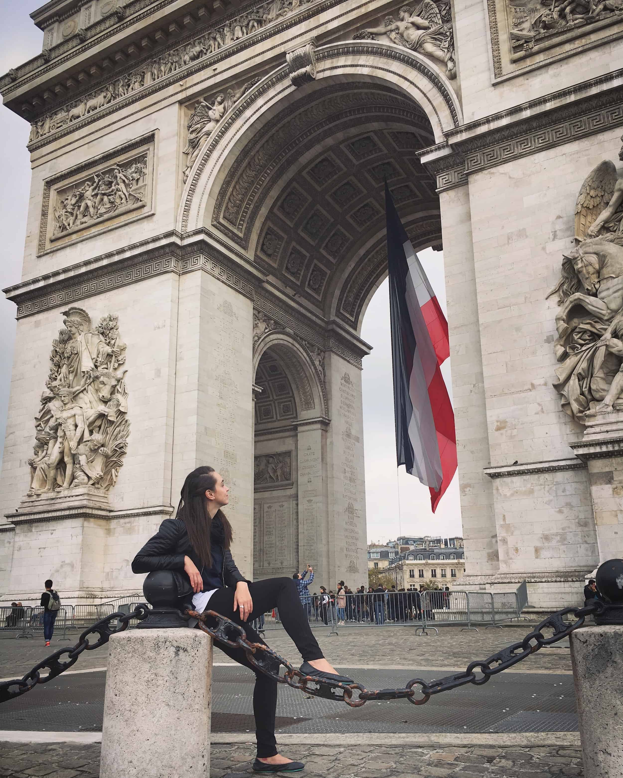 Tieks at the Arc de Triomphe