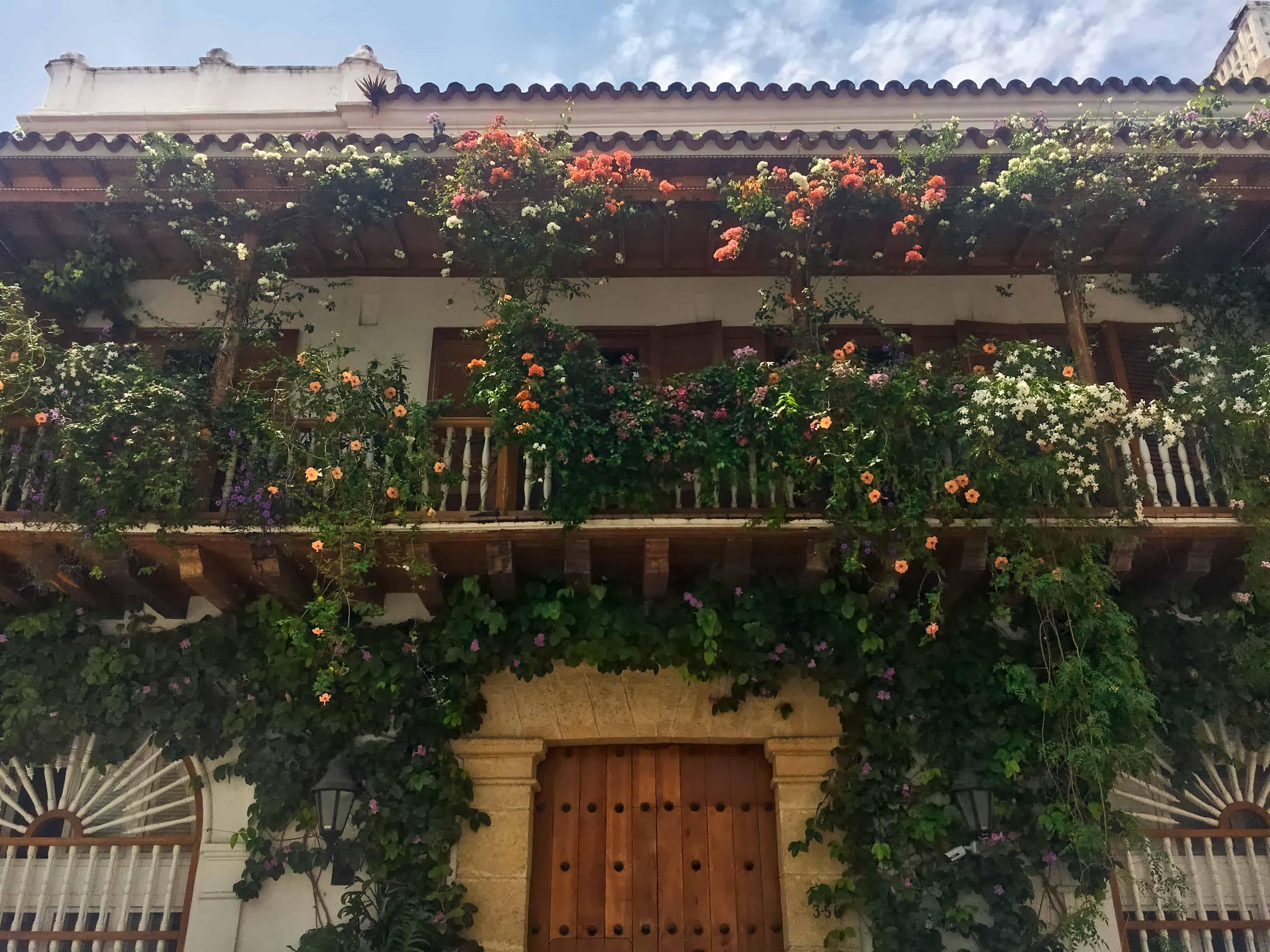 Cartagena Walking Tour - Balcony with Flowers
