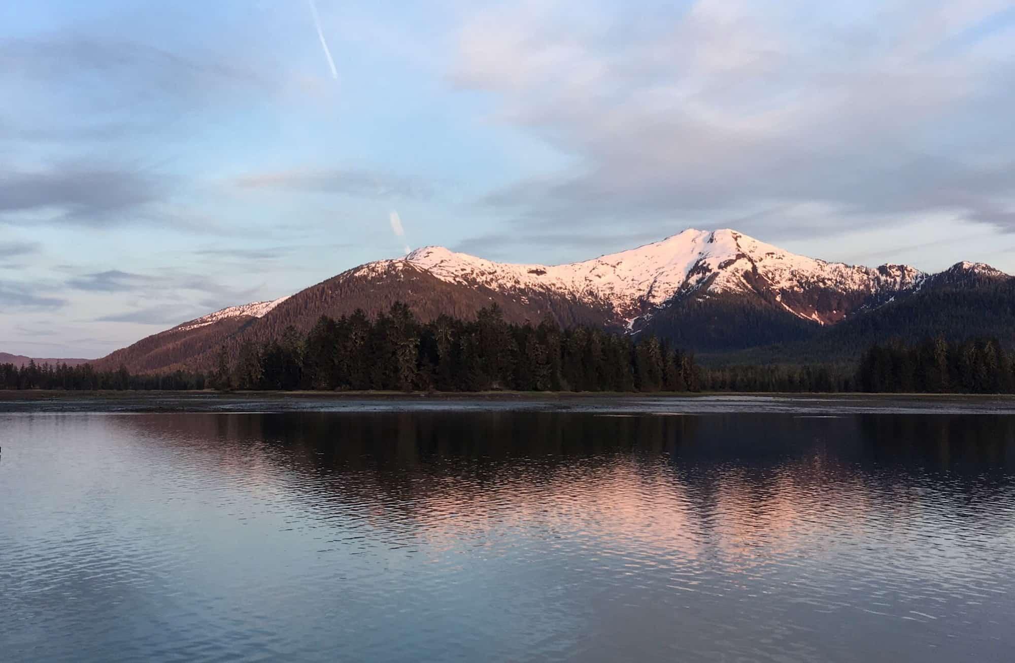 Alpenglow in Alaska