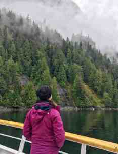 Gazing out over the mists at Misty Fjords