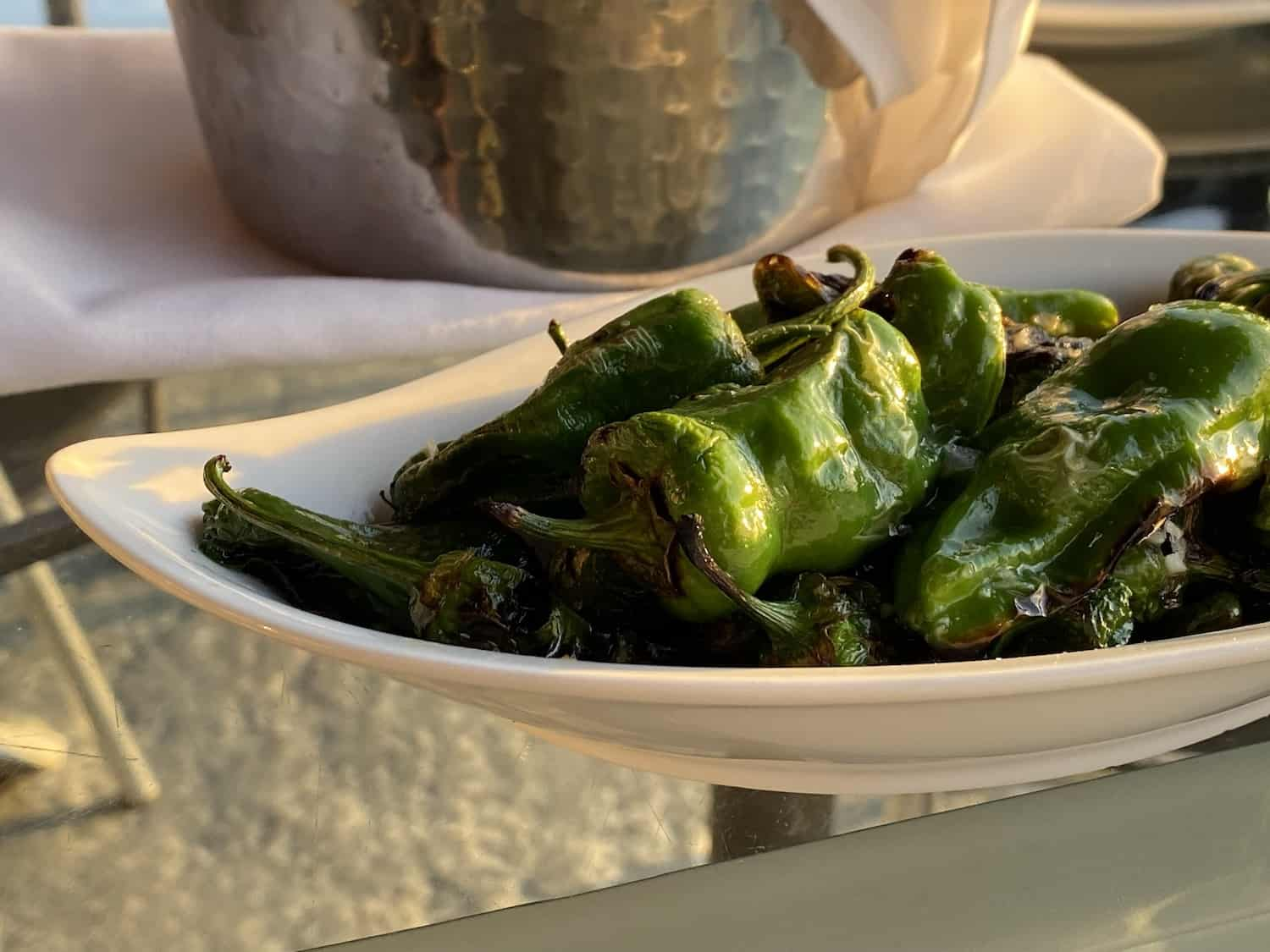 Weekend in San Jose - Grand View Restaurant Padron Peppers