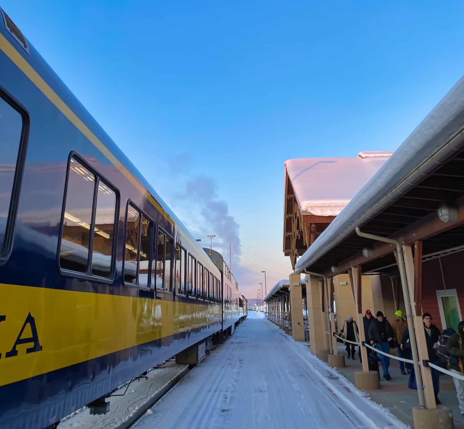 Fairbanks in Winter - Alaska Railroad
