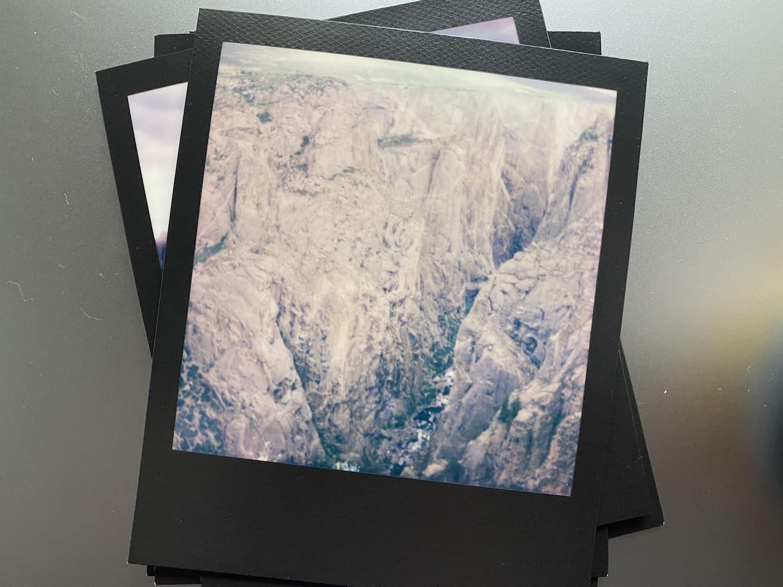 Polaroid Now: Black Canyon of the Gunnison