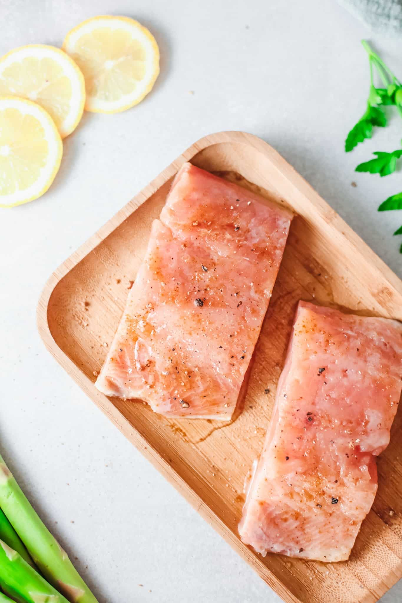 Alaskan Salmon with Honey, Salt and Pepper, and Olive Oil