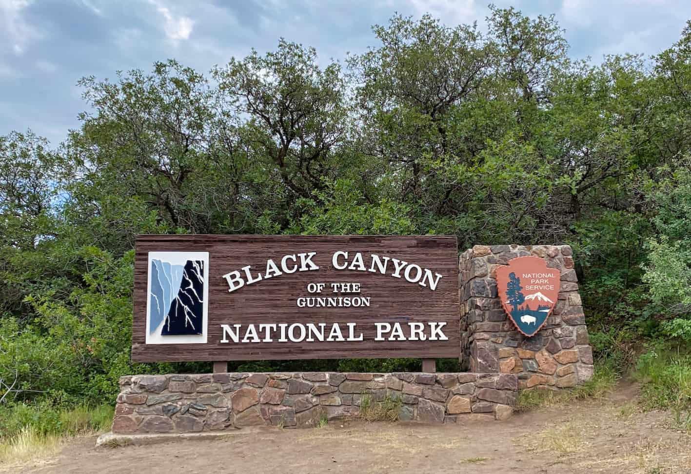 Colarado National Park - Black Canyon of the Gunnison Sign