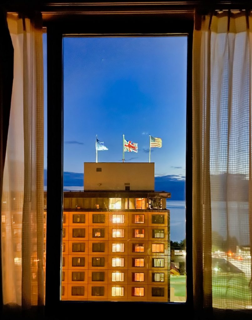 John Hall's Alaska Review - View from the Captain Cook Hotel
