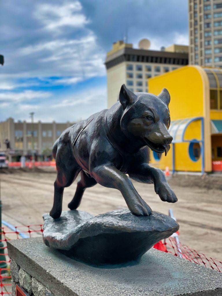 John Hall's Alaska Review - Day 7 - Downtown Anchorage Balto Statue