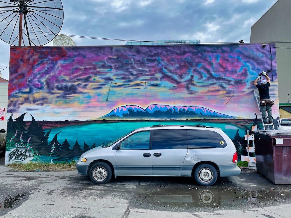 John Hall's Alaska Review - Day 7 - Downtown Anchorage Street Art