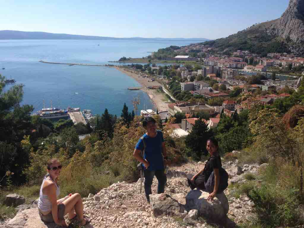 Visiting Omiš with our Japanese roommates