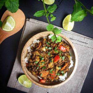 Express vegan lentil curry - Valises & Gourmandises