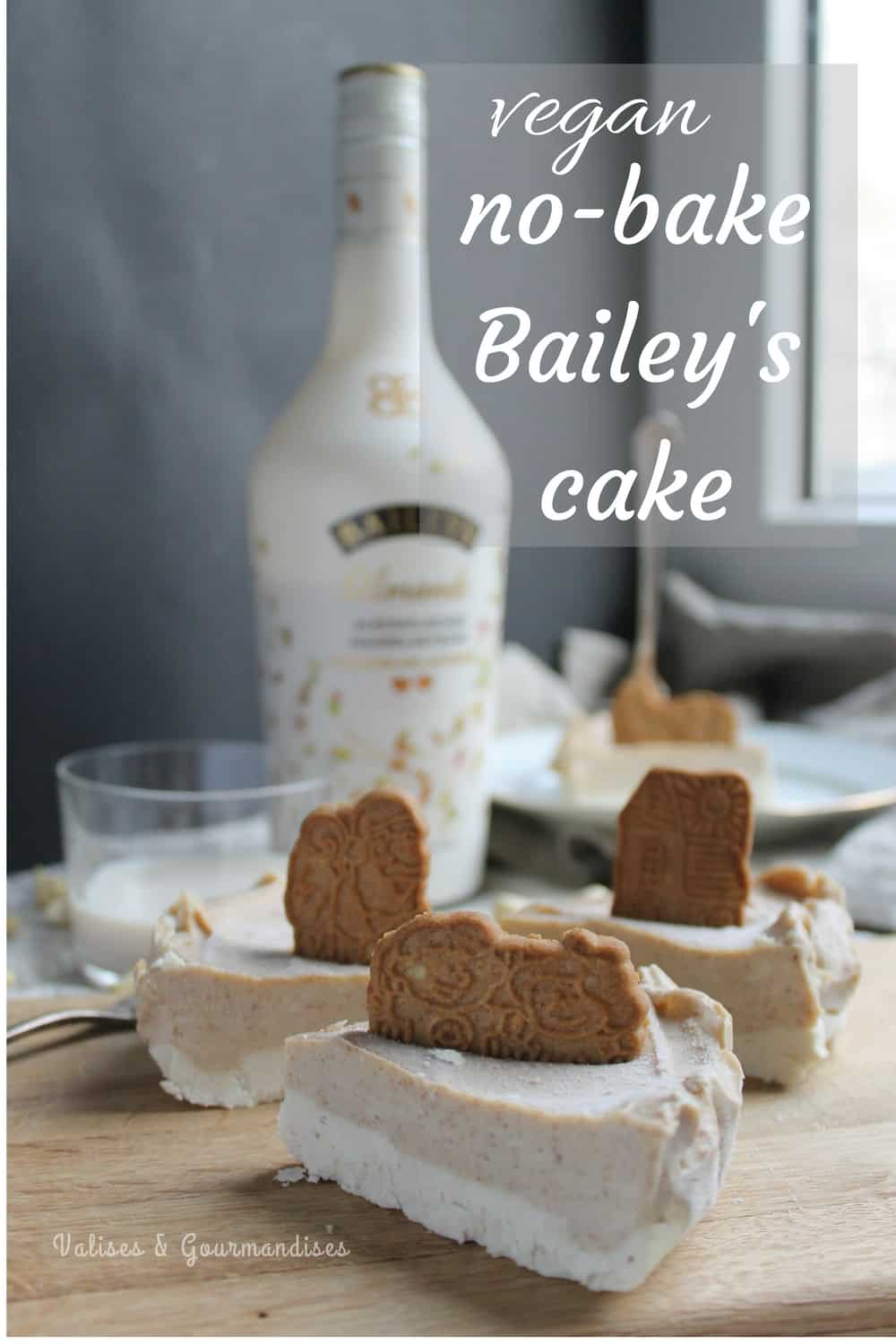 Vegan no-bake Bailey's cake